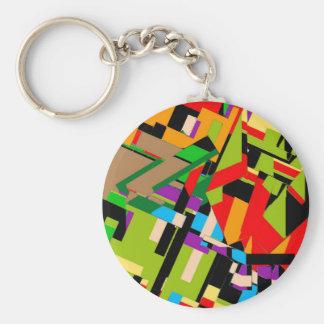 Glänzender abstrakter Entwurf Schlüsselanhänger