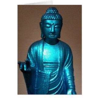 Glänzender blauer Buddha Grußkarte