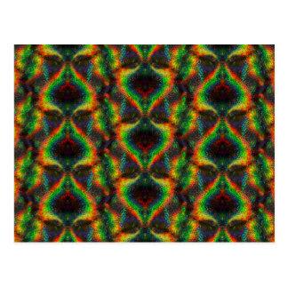 Glänzender ganz eigenhändig geschrieber Regenbogen Postkarten