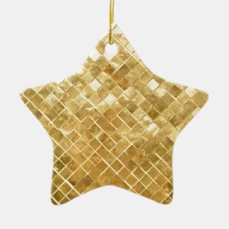 Glänzender GoldGlitterhintergrund Keramik Ornament