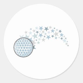 Glänzender Golf-Stern Runde Sticker