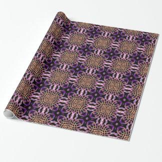 Glänzender kreuzender Band-Kugel-abstrakter Geschenkpapier