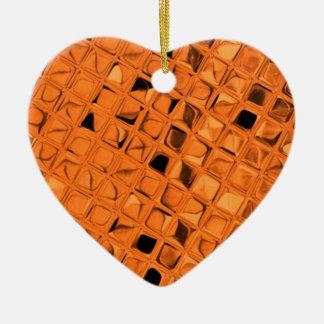Glänzender metallischer orange Diamant-Weichling Keramik Ornament