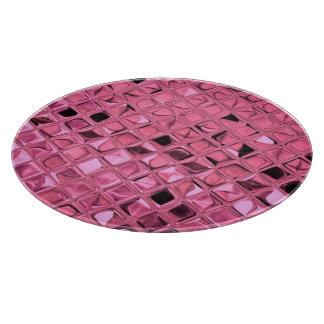 Glänzender metallischer rosa Diamant-Serpentin Schneidebrett