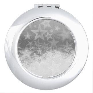 Glänzender Platin Starshine Bild-Vertrags-Spiegel Schminkspiegel