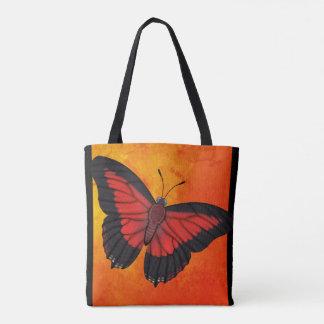 Glänzender roter Charaxes Schmetterling Tasche