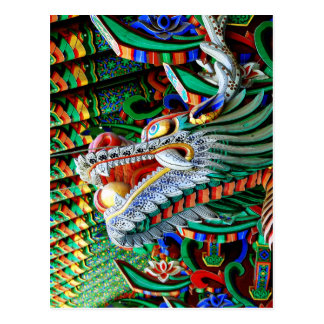 Glänzender Tempel-Drache Postkarte