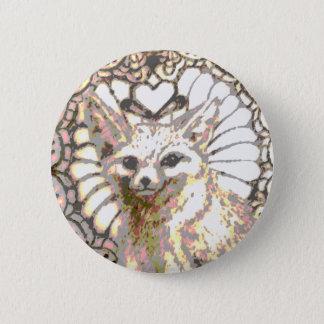 Glänzender WüsteFox Runder Button 5,1 Cm
