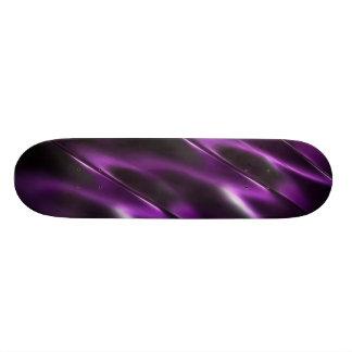 Glänzendes abstraktes metallisches lila Metall 21,6 Cm Skateboard Deck