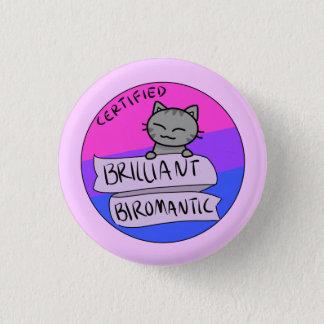 Glänzendes Biromantic Runder Button 2,5 Cm