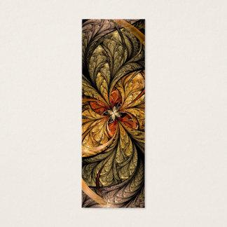 Glänzendes Blätter-Fraktal-Kunst-Lesezeichen Mini Visitenkarte