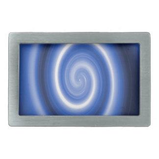 Glänzendes Blau-Spiralenmuster Rechteckige Gürtelschnalle