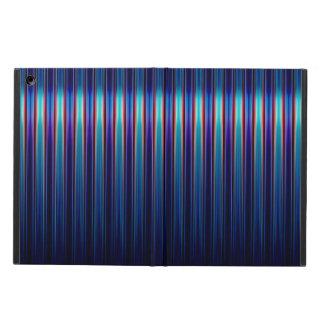 Glänzendes blaues gestreiftes Muster