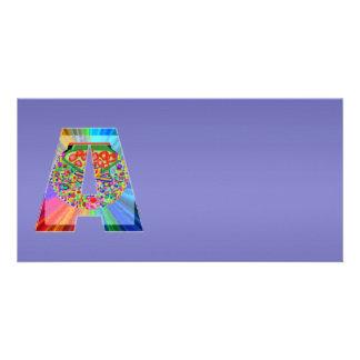 Glänzendes blaues lila n NumberONE AAA Foto Karte