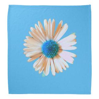 Glänzendes blaues und weißes Gänseblümchen Kopftuch