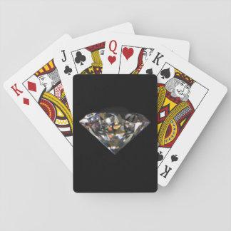 Glänzendes Diamant-Juwel Bling schwarzer Spielkarten