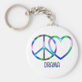 Glänzendes FriedensLiebe-Drama Schlüsselanhänger