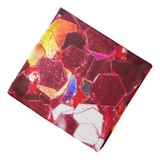 Glänzendes Glittermuster des roten abstrakten Halstuch