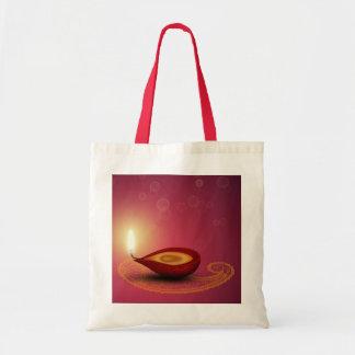 Glänzendes glückliches Diwali Diya - Tasche