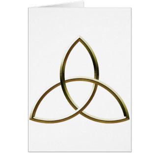 Glänzendes Gold Triquetra Karte
