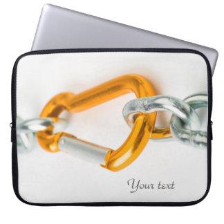 Glänzendes Gold-und Silber-Farbkettenclip Laptop Sleeve