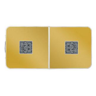 Glänzendes Goldenes mit Foto 2x Beer Pong Tisch