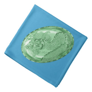 Glänzendes grünes metallisches Drache-Medaillon Halstuch
