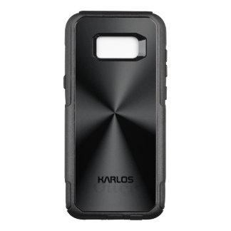 Glänzendes Imitat-Schwarz-metallischer rostfreier OtterBox Commuter Samsung Galaxy S8+ Hülle
