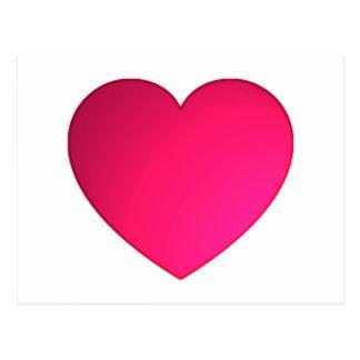 Glänzendes Kirschrot-Herz Postkarten