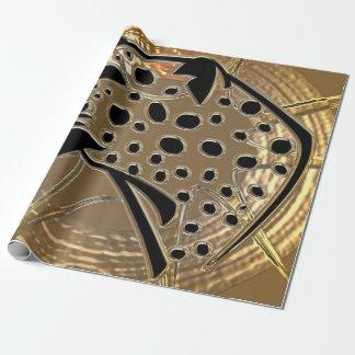 Glänzendes metallizer Silber und schwarzes Geschenkpapier
