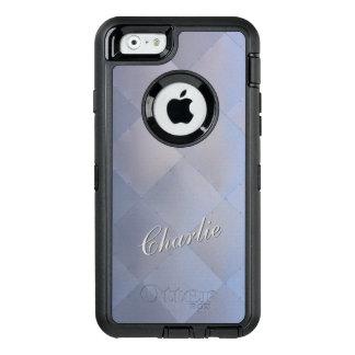 Glänzendes modernes kariertes Metallblau irgendein OtterBox iPhone 6/6s Hülle