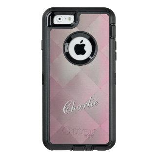Glänzendes modernes kariertes Metallrosa irgendein OtterBox iPhone 6/6s Hülle