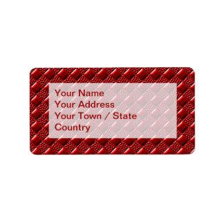 Glänzendes Rot Adressaufkleber