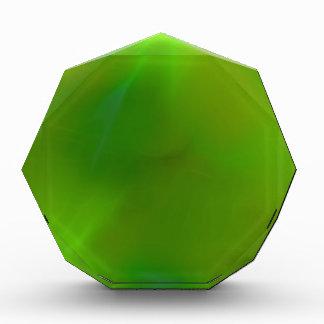 Glänzendes schimmerndes Limones Grün Acryl Auszeichnung