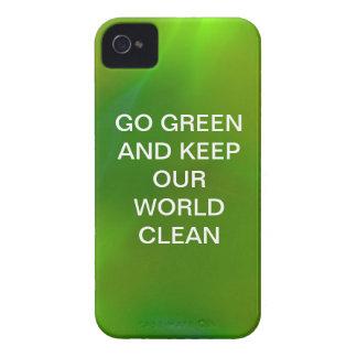 Glänzendes schimmerndes Limones Grün iPhone 4 Etuis