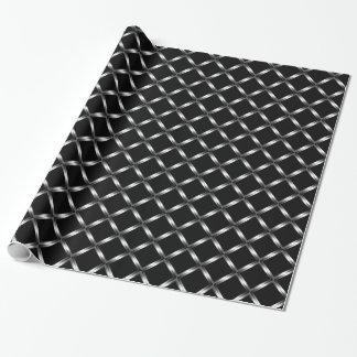 Glänzendes schwarzes Packpapier