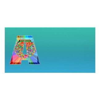 Glänzendes SkyBlue n NumberONE AAA Personalisierte Foto Karte