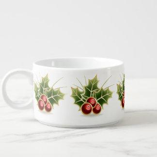 Glänzendes Stechpalmen-Beeren-Weihnachtsmuster Schüssel