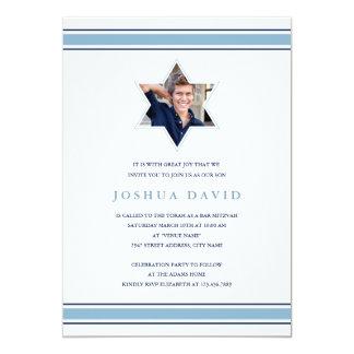 Glänzendes Stern-Bar Mitzvah 12,7 X 17,8 Cm Einladungskarte