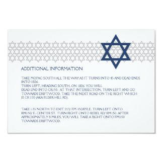 Glänzendes Stern-Bar Mitzvah blaue Karte