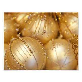 Glänzendes Weihnachten funkelte Verzierungen - Photographischer Druck