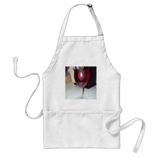 Glas der Rotwein-Schürze