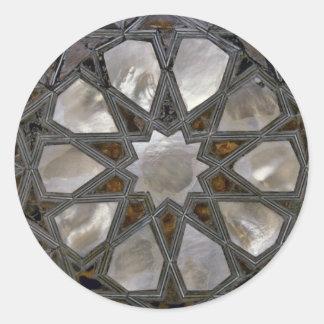 Glas-Entwürfe Runder Aufkleber