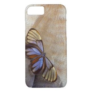 Glas-Flügel Schmetterlings-ägyptische Gans-Feder iPhone 8/7 Hülle