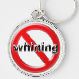 Glas kein Jammern Silberfarbener Runder Schlüsselanhänger