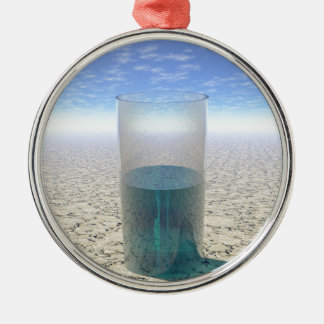 Glas Wasser Rundes Silberfarbenes Ornament