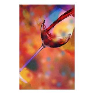 Glas Wein Individuelles Druckpapier