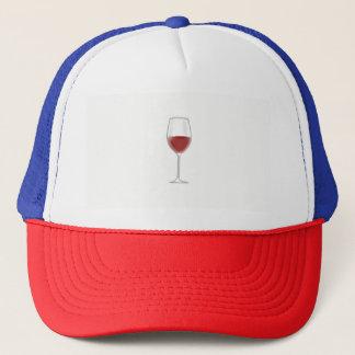 Glas Wein Truckerkappe