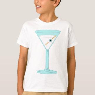 Glasaugen-menschlicher Augapfel Martini T-Shirt