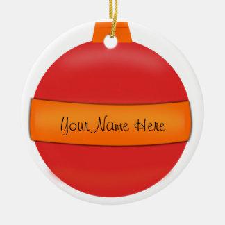Glasbirnen-Weihnachtsbaum-Verzierung Keramik Ornament